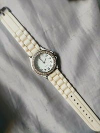 Women's Quarts Jap mov. White silicon watch Kelowna, V1Y 1S1