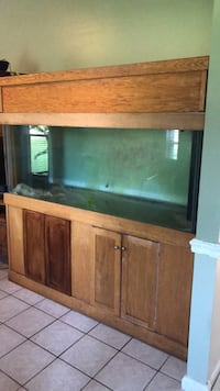 brown wooden framed fish tank Charleston, 29414