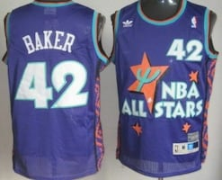 Bucks #42 Baker- All Star jersey mens xl Jersey