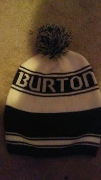 black and white Burton knitted cap Edmonton, T5H 1M2