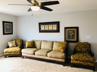 Tommy Bahama Style sofa, 2 accent chairs and 3 palm oictures Newport Beach, 92661