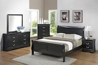 brown wooden bed frame with white mattress Bakersfield