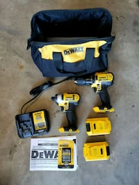 Dewalt 2 Speed Drill and Inpact Driver Kit NEW