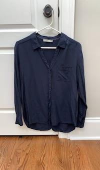 Dark Blue, Navy Long Sleeve Shirt with front Pocket Buford, 30518