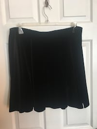 Black velour high waist skirt  New Westminster, V3L 1H5