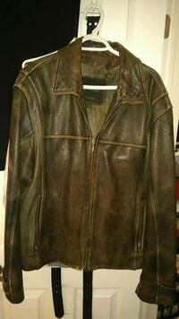 brown leather zip-up jacket Ontario, K1J