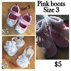 baby's pink boots collage photo