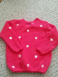 pink and white hearts sweater 12-18M Woodbridge, 22193