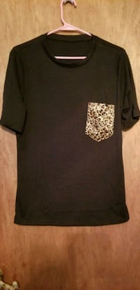 Black Lightweight Tee w/Leopard Pocket Pinellas County