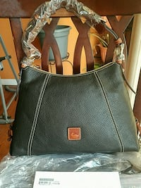 NWT - Authentic Dooney and Bourke black leather bag Howell, 07731