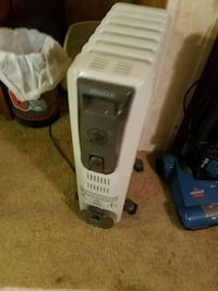white and black kenwood oil heater