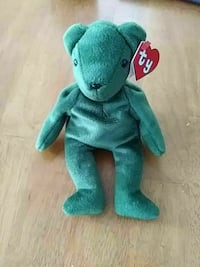 green teddy bear TY Beanie Baby