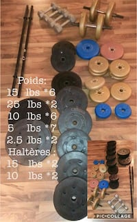 assorted color of dumbbells lot Montreal