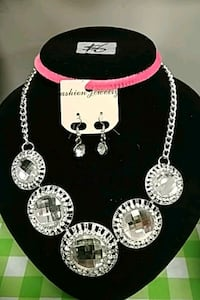 silver color necklace and earring set Toronto, M1B 0A7