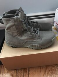 pair of gray Timberland work boots Fort Lee, 07024