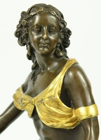 Beautiful gold and brown patina Ancient Greek Roman Mythology Bronze Sculpture Sterling