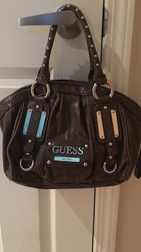 Brown guess leather tote bag Whitby