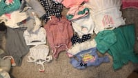 Lot of baby girl clothes 0-3 months approx 30 outfits. 80 items all together Newcastle, 73065