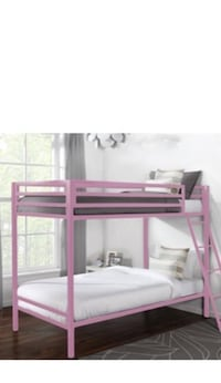white and pink bunk bed null