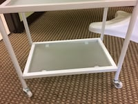 3 shelf glass trolley cart