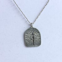 handcrafted Pewter tree pendant #687 New York