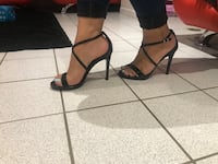 Pair of black Steve Madden open-toe ankle strap heels, brand new size 6 ready to pick up .. Terrebonne, J6V 1E3