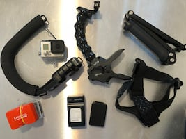 GoPro hero 3 black with accessories extra battery, battery backpack,