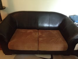 Designer genuine leather loveseat / couch *Base only, no cushions