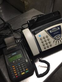 Fax and credit cards machine , 11368