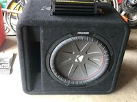 """kicker compR 12"""" with enclosure and amp Baltimore, 21237"""