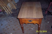 brown wooden single drawer side table Arlington