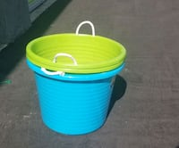 Buckets with Ropes (3) 2green 1 blue