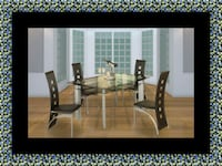 Glass dining table with 4 chairs Greenbelt
