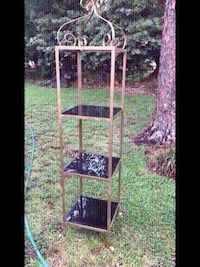 Vintage Wrought Iron Ornate unite with Plexiglass shelves.Retailed:$300 ( one left only) Houston, 77055