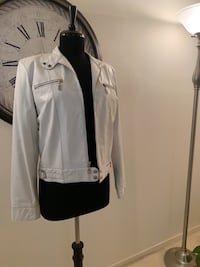 White Wilson's Leather Motorcycle Jacket Silver Spring, 20906