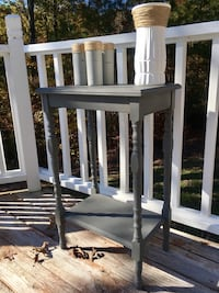 Gray Farmhouse Style Accent Table
