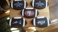 brown white and red san francisco football decor East Rutherford
