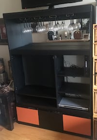 black and orange  wooden tv rack 14 km
