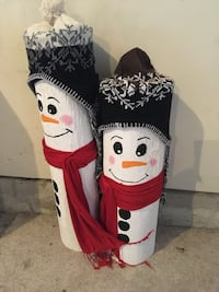 Snowman couple decoration