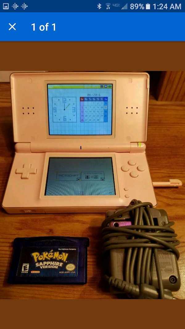 Used Nintendo Ds Lite And Pokemon Sapphire Bundle For Sale