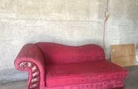 Red fabric padded sofa chair sofa  Edmonton, T6X