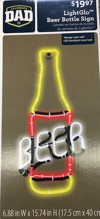 Lightglo led beer bottle sign brand new Rutherford, 07070