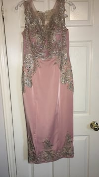 women's pink and silver sleeveless dress Vaughan, L4K