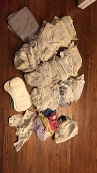 Huge stash of cloth diapers