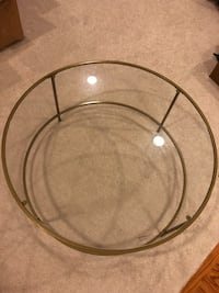 round clear glass bowl with black metal frame Ashburn, 20147