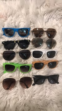 10 pairs of sunglasses