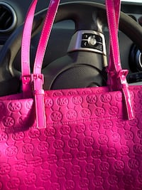 pink and brown Coach leather tote bag Conway, 72032
