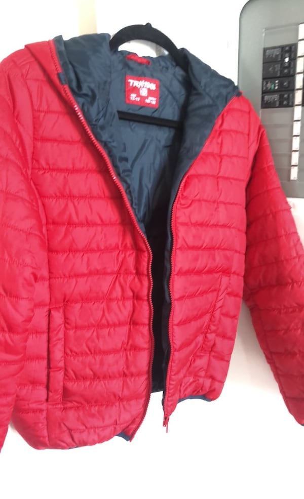 Terranova bright red down feather jacket size 12-13 easily fit an xs 23f81b1d-0c19-48af-8f07-347030626cf7