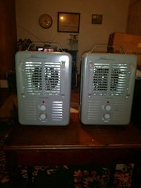 two white window type air conditioners Independence, 64052
