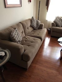 Sofa, Loveseat, end tables and coffee table